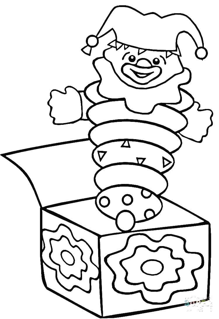 Игрушка-шутка, клоун-боксер, игрушка с сюрпризом в коробке Скачать раскраски для мальчиков
