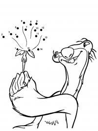 Ленивиц и сид одуванчик, мультфильм ледниковый период Раскрашивать раскраски для мальчиков