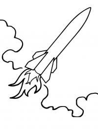 Ракета летит сквозь облака Раскраски для мальчиков