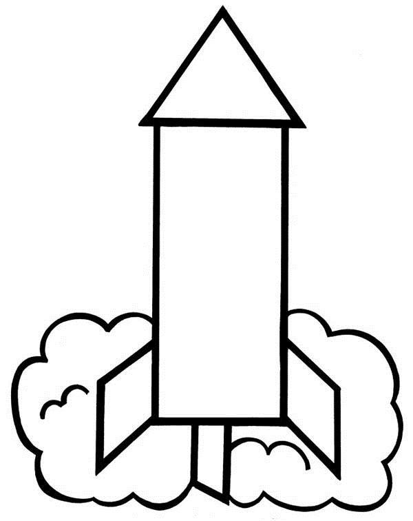 Ракета и дым Раскраски для мальчиков