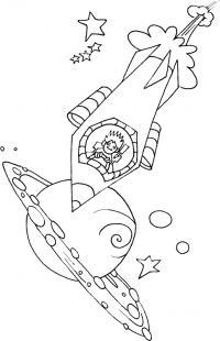 Человек в ракете Раскраски для мальчиков