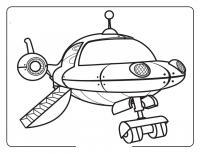 Необычный космический корабль Раскраски для мальчиков