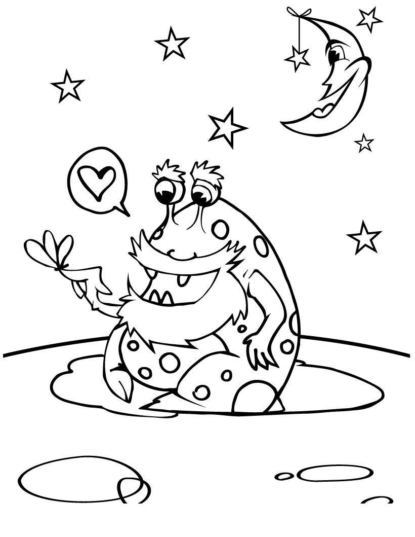 Инопланетянин Распечатать раскраски для мальчиков