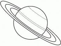 Космос, планета с кольцом Распечатать раскраски для мальчиков
