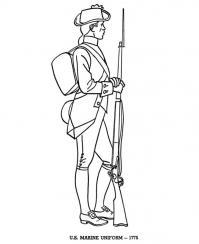Война, солдат в униформе Раскраски для детей мальчиков