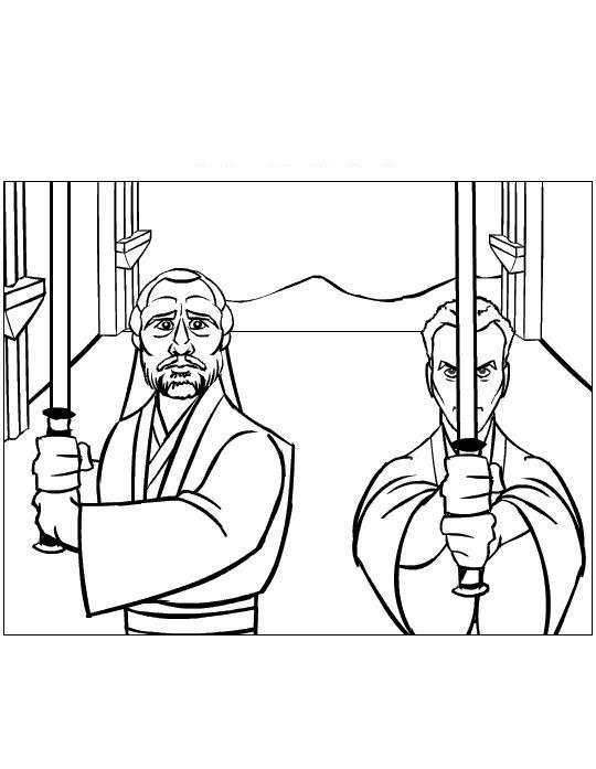 Мастер и ученик, джидаи Раскраски для мальчиков бесплатно