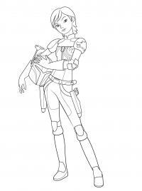 Девушка со шлемом в руках, фильм звездные воины Раскраски для мальчиков бесплатно