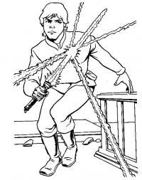 Джидай, световые мечи, звездные воины Раскраски для мальчиков бесплатно