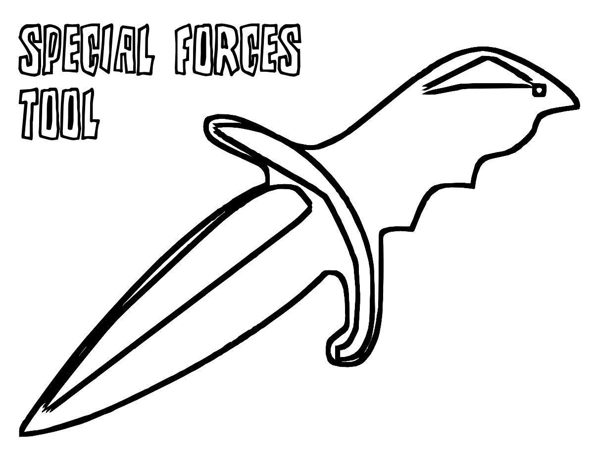 Холодное оружие, нож, кинжал Раскраски для мальчиков