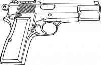 Пистолет, огнестрельное оружие Раскраски для мальчиков