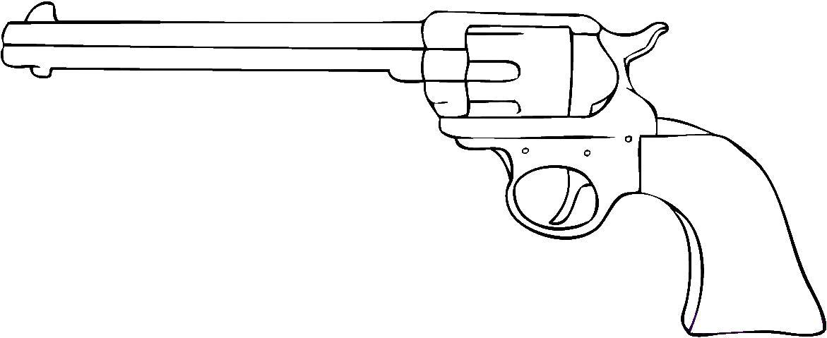 Револьвер, оружие Раскраски для мальчиков