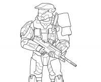 Оружие, воин в маске с оружием Раскраски для детей мальчиков