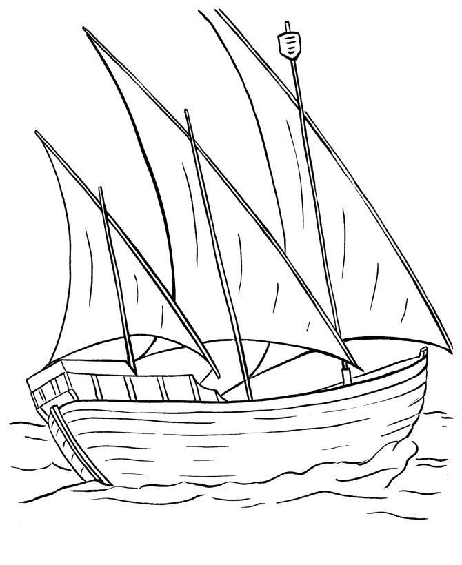 корабль лодка разукрашка