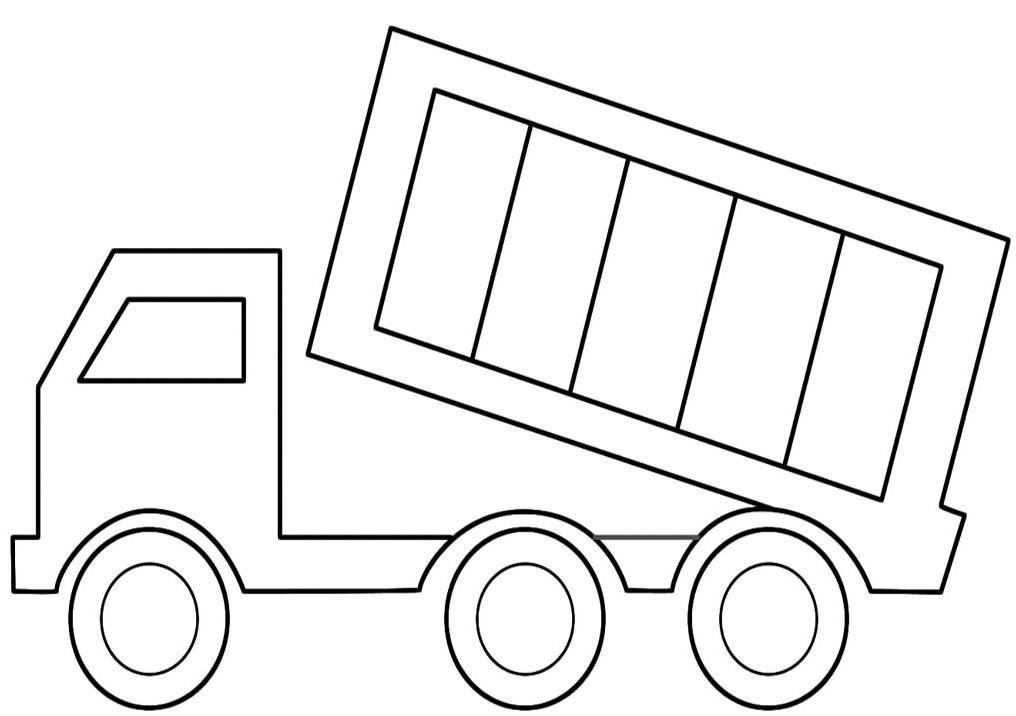 грузовик с опущенным кузовом распечатать раскраски для мальчиков