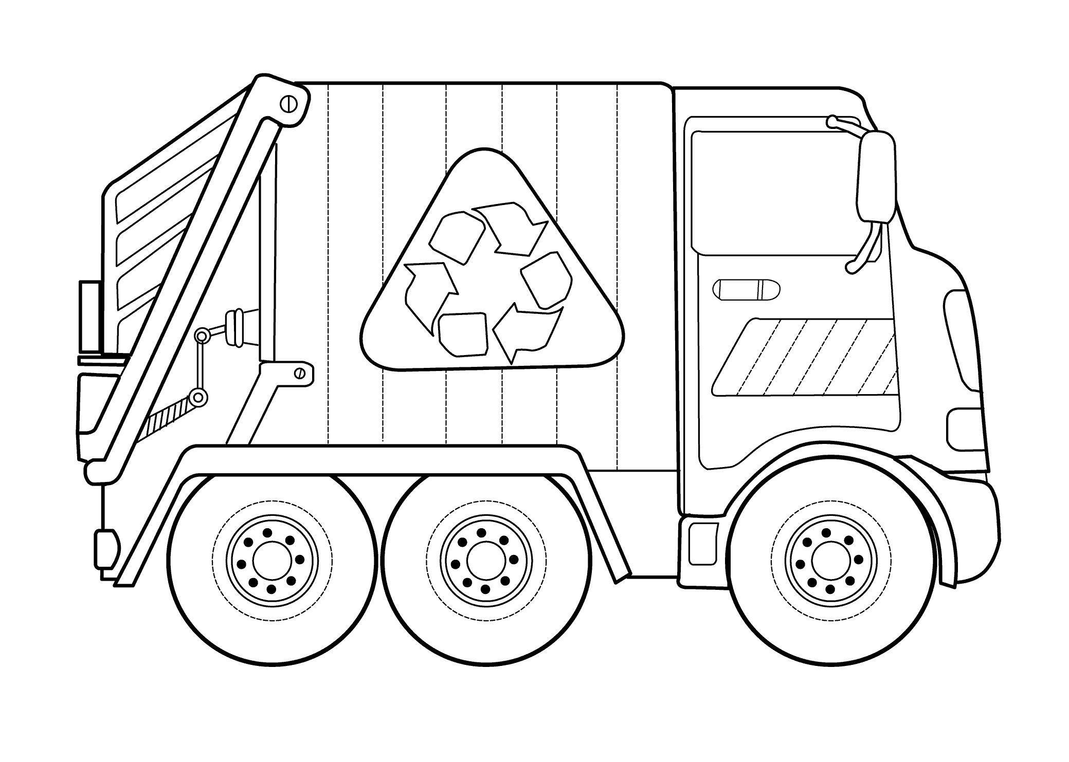 грузовик мусоровоз раскраски для мальчиков