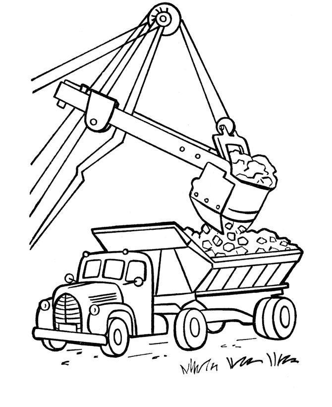 Раскраски для детей грузовик распечатать