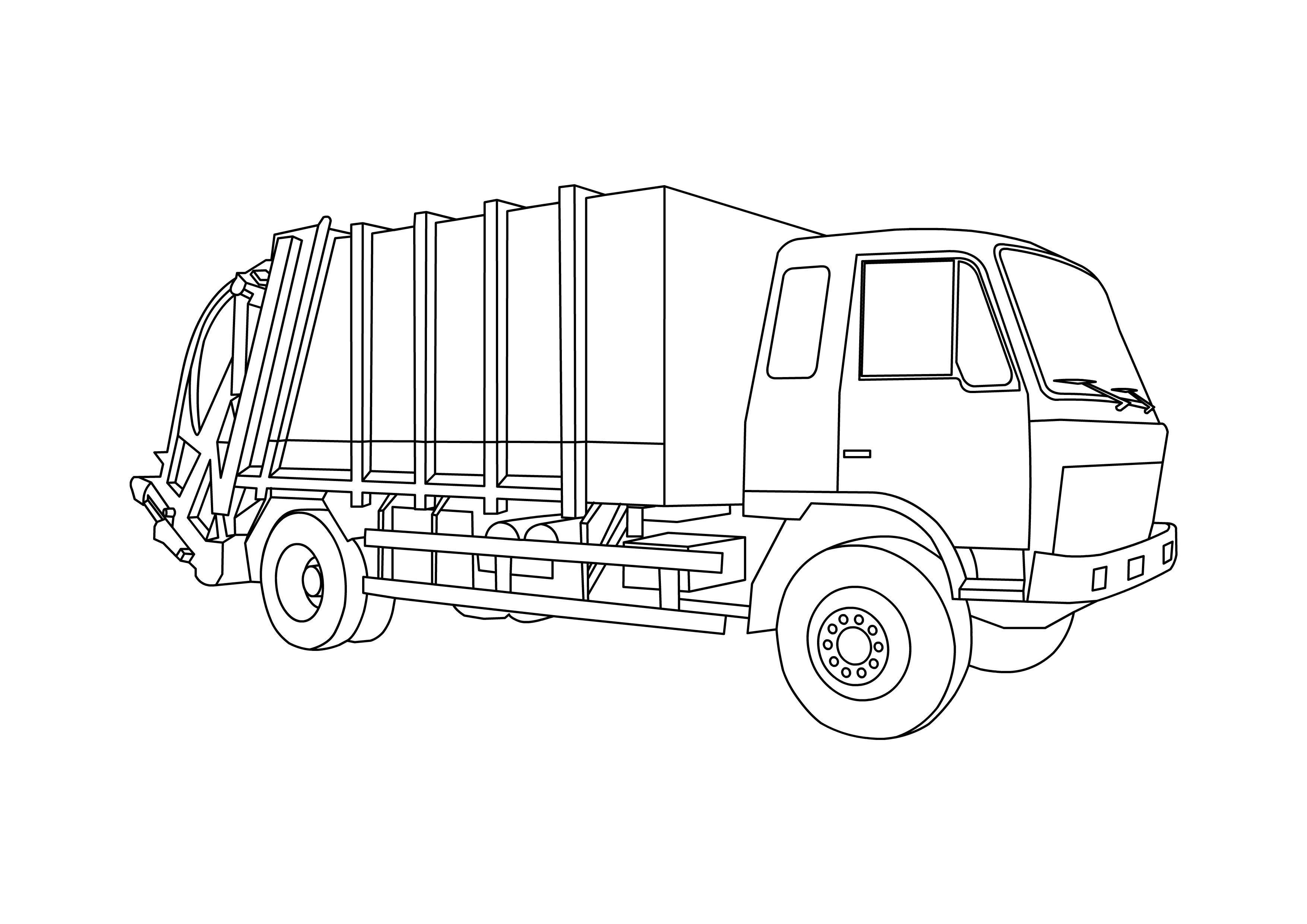 Мусоровоз, грузовик Раскраски для мальчиков