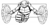 Черепашка ниндзя идет в атаку Раскраски для детей мальчиков