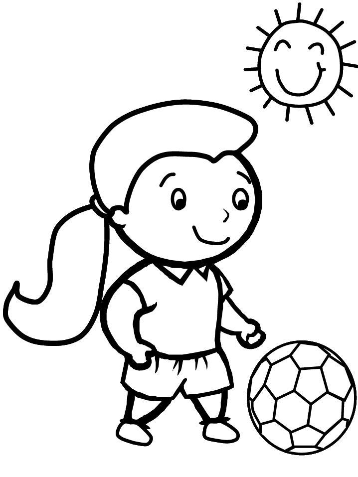 рисунок про спорт раскраска детский
