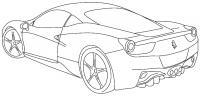 Спортивная машина вид сзади, автомобильный спорт Скачать раскраски для мальчиков