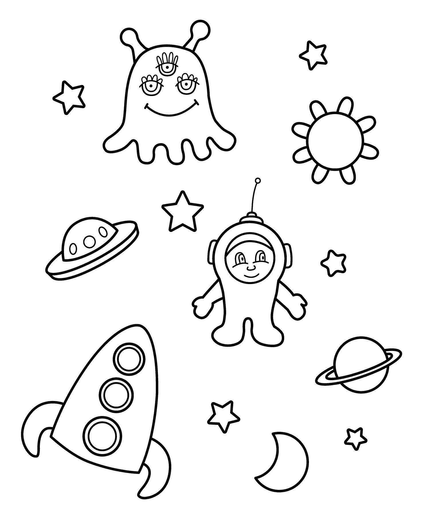 нло летающая тарелка ракета космонавт планеты звезды