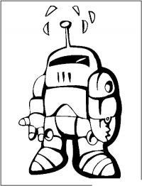 Робот с радиоантенной Раскраски для детей мальчиков