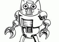Робот с руками кусачками Раскраски для детей мальчиков