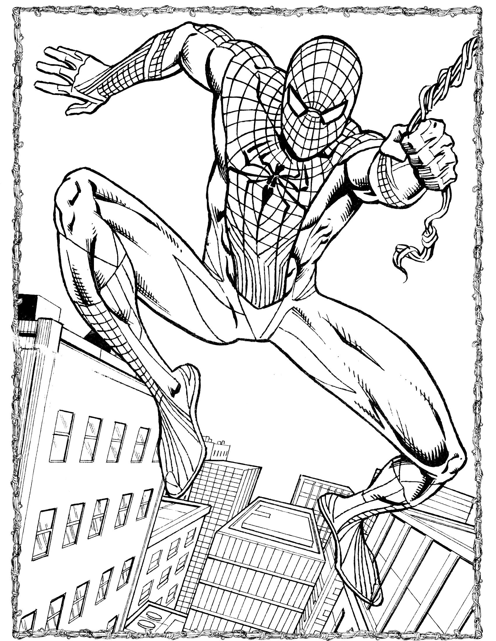 Человек и паук раскраска 114