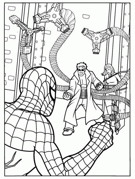 Человек паук и доктор спрут Раскраски для мальчиков
