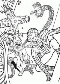 Человек паук и спрут Раскраски для мальчиков