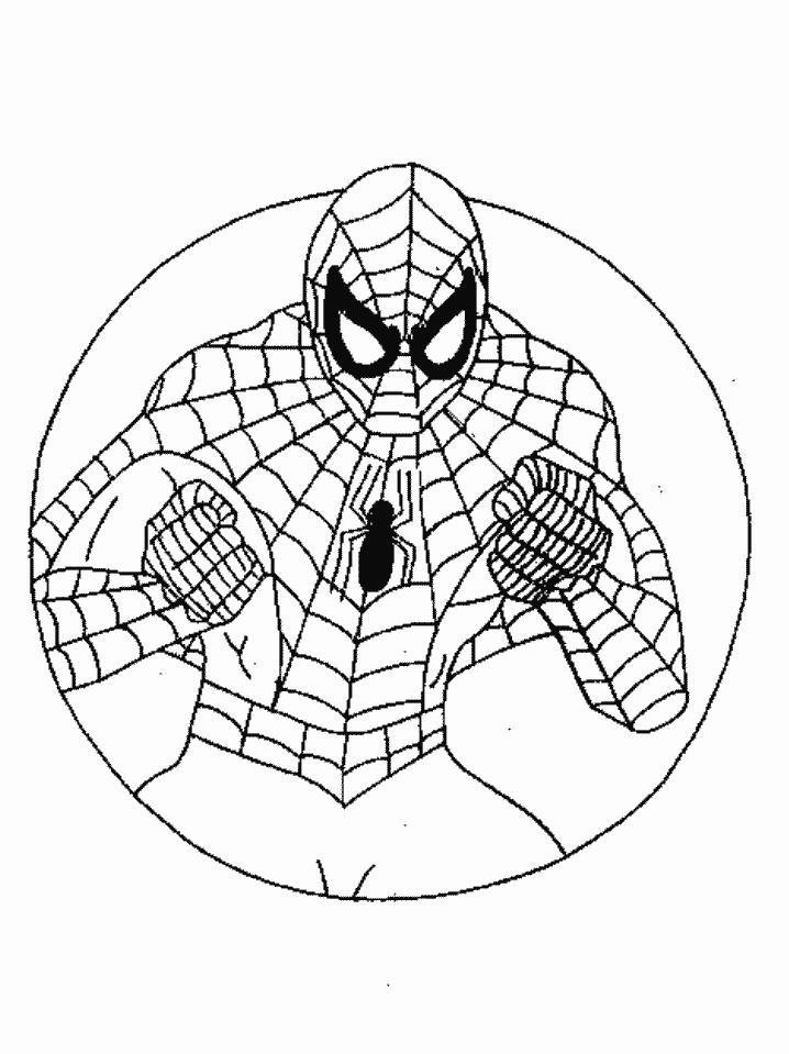 Человек паук в круге Раскраски для мальчиков