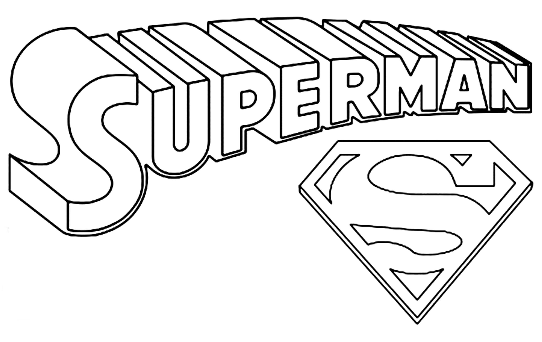 Супермен, эмблема Раскраски для мальчиков