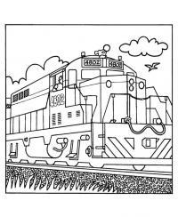 Поезд Раскраски для мальчиков