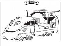 Робот поезд Раскраски для детей мальчиков