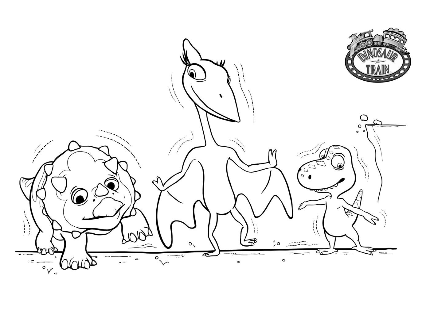 Поезд динозавров, детеныши динозавров Раскраски для детей мальчиков