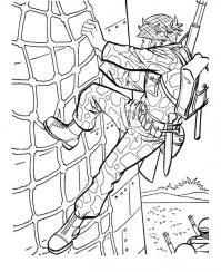 Подготовка солдат Раскраски для детей мальчиков
