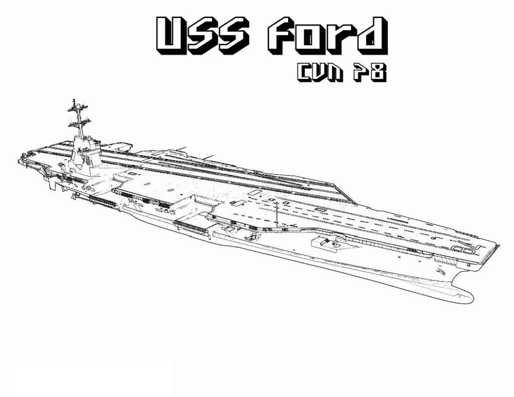 Корабль площадка форд Раскраски для мальчиков