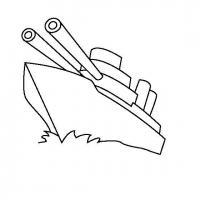 Корабль с оружием Раскраски для мальчиков