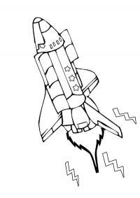 Космический шаттл с рисунком звезд Раскраски для мальчиков