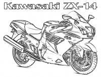 Мотоцикл кавасаки Распечатать раскраски для мальчиков