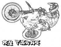 Мотоспорт, езда на заднем колесе Распечатать раскраски для мальчиков