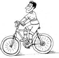 Катание на велосипеде, человек, мальчик, парень, скорость, ветер Раскраски для детей мальчиков
