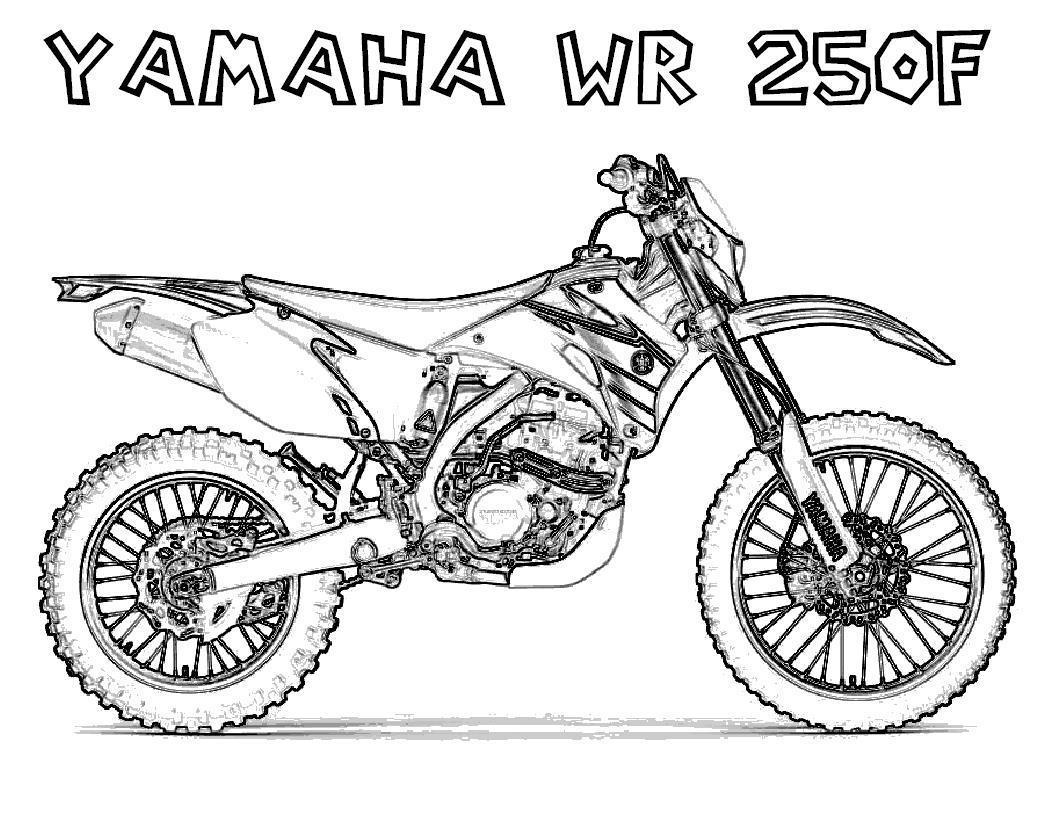 Мотоцикл ямаха Распечатать раскраски для мальчиков