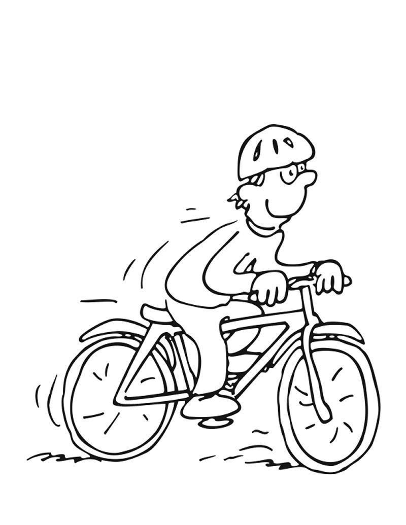 Велогонщик Раскраски для детей мальчиков