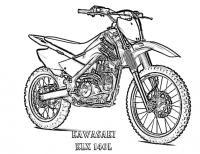 Мотоцикл кавасаки, байк Распечатать раскраски для мальчиков