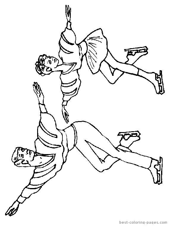 Парное фигурное катание Раскраски для мальчиков бесплатно