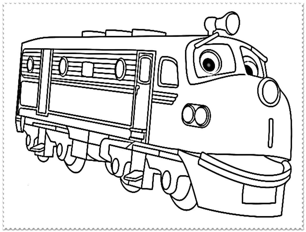Счастливый поезд Раскраски для мальчиков