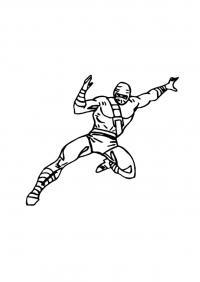Ниндзя в прыжке Раскраски для мальчиков