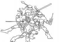 Четверка ниндзя черепашек Раскраски для детей мальчиков