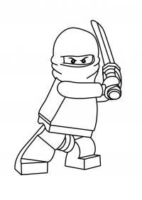 Лего ниндзя с мечом Раскраски для мальчиков